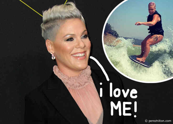 Pink Catches Waves & Celebrates Her 'Thunder Thighs'!
