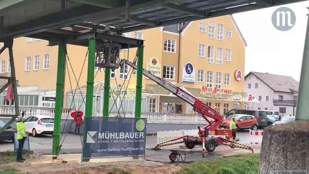Der Behelfssteg in Neunburg ist endlich da - Mittelbayerische