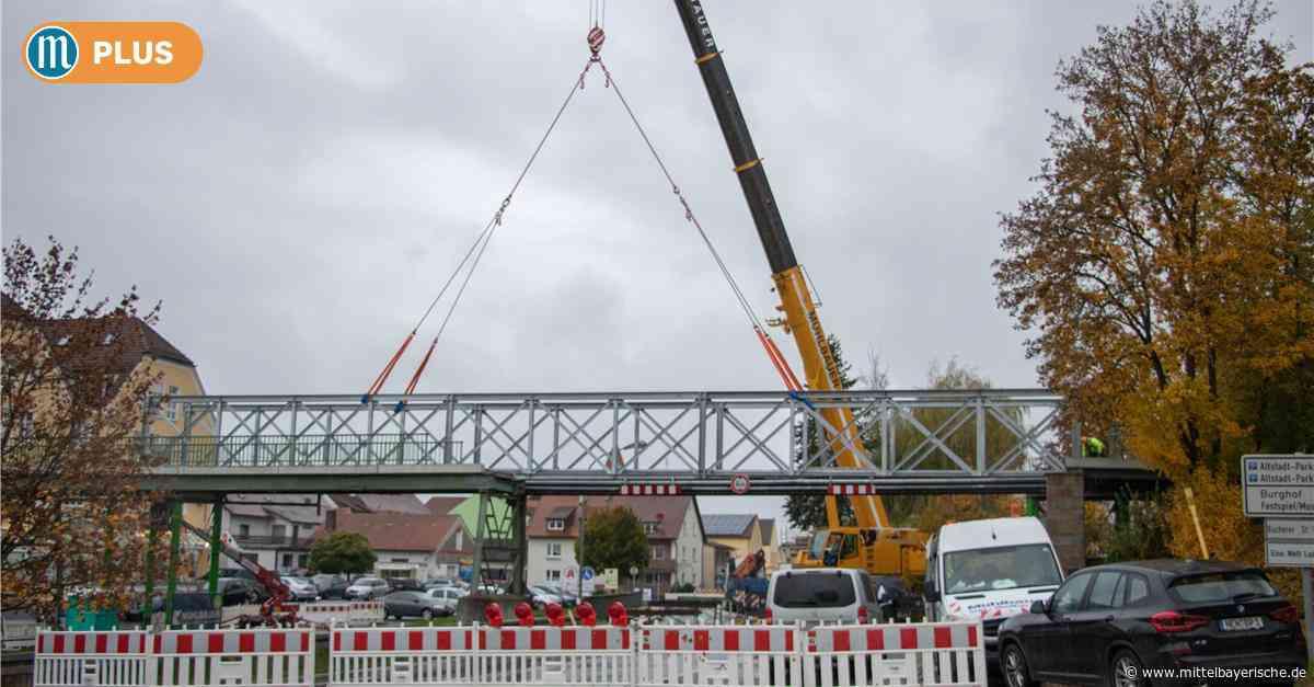 Neunburg: Die Behelfsbrücke schwebt ein - Mittelbayerische
