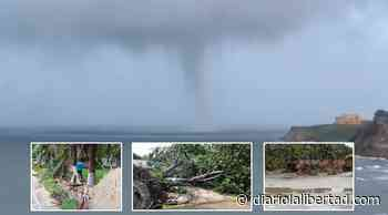 Tromba marina en playas de Salgar en Puerto Colombia, causó daños - Diario La Libertad