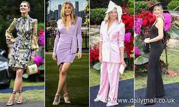 Jasmine Stefanovic leads the glamorous celebrities at Melbourne Cup Carnival Launch in Sydney