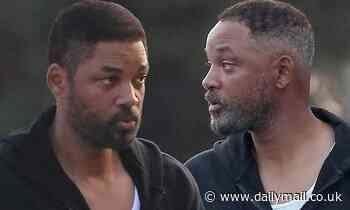 Will Smith spotted in black tracksuit on LA  set of biopic King Richard about Venus and Serena's dad