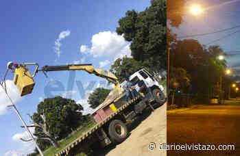 Habitantes de Pdvsa San Tomé restablecen el alumbrado público sin apoyo de la estatal - Diario El Vistazo