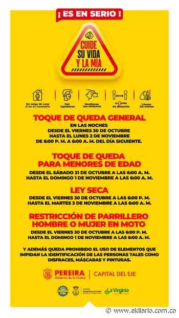 Alcaldes del Área Metropolitana y Santa Rosa de Cabal anunciaron medidas para el fin de semana de Halloween - El Diario de Otún