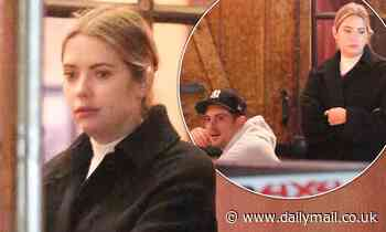 Ashley Benson enjoys a late dinner with boyfriend G-Eazy and friends in West Hollywood