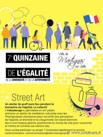 Street Art / Atelier de Graph Mairie de Martignas sur Jalle samedi 28 novembre 2020 - Unidivers