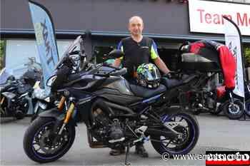 Patrice et sa Yamaha Tracer 900 chez Team Menduni à Grenoble - Emoto