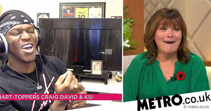 KSI has Lorraine Kelly in hysterics after revealing shrine to presenter in his bedroom