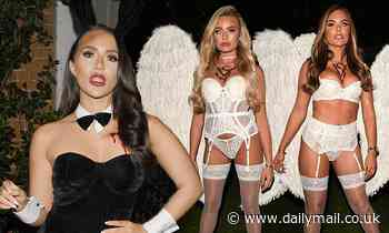 TOWIE's Chloe Brockett transforms in a Playboy Bunny as cast film Halloween Special