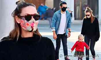 Rebecca Ferguson and husband Rory dote on daughter Sage on a stroll in Venice