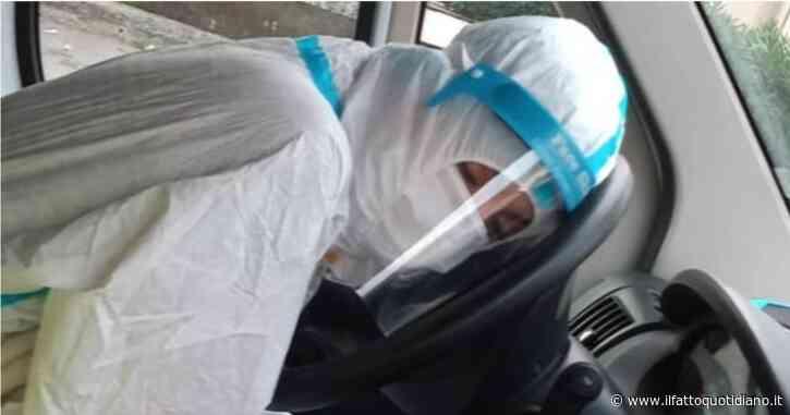 """Dorme sul volante stremata dal turno: la foto dell'infermiera a Palermo fa il giro del web. """"Non siamo eroi, serve l'impegno di tutti"""""""
