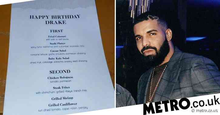What is going on with Drake's birthday menu? Fans divided over dinner option for extravagant 34th