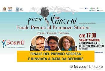 Rinviata la cerimonia finale del Premio Manzoni al Romanzo Storico 2020 - Lecco Notizie