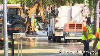 Water Main Break Causes Flooding in Miami Lakes Neighborhood