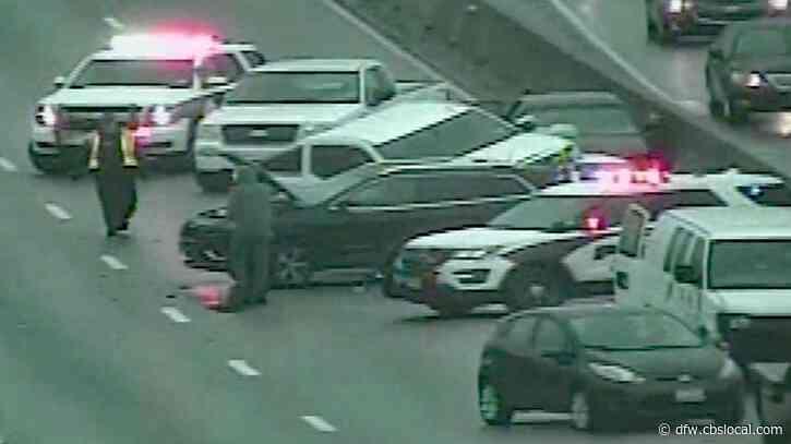 Slick Roads, Multiple Car Crash Kills Motorcyclist In Lewisville