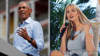 Barack Obama, Ivanka Trump Campaign in Florida as Key Race Tightens