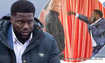 Kevin Hart and Woody Harrelson spotted on the set of The Man From Toronto