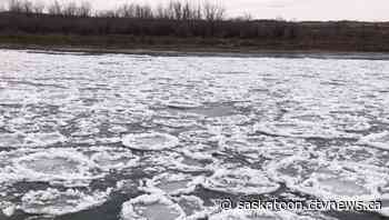 'Just like crop circles': Sask. woman notices ice formations usually seen in dead of winter
