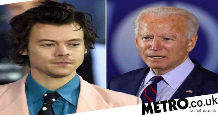 Harry Styles endorses Joe Biden and urges fans to 'vote with kindness'