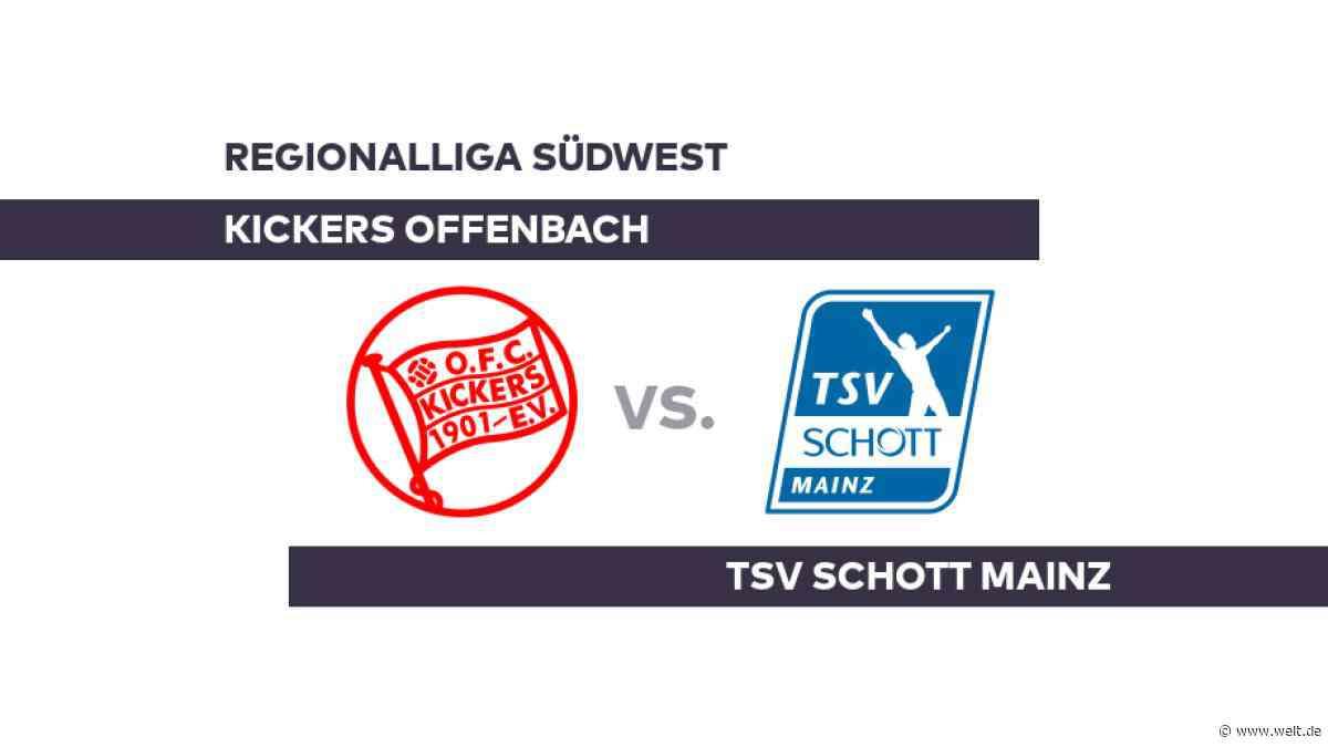 Kickers Offenbach - TSV Schott Mainz: Offenbach peilt den Dreier an - Regionalliga Südwest - DIE WELT