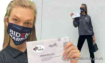 Karlie Kloss votes in Biden/Harris mask despite Jared Kushner link