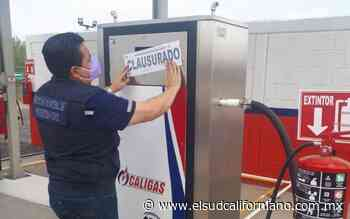Clausura Protección Civil Municipal estación de servicio de gas - El Sudcaliforniano