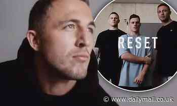 Sam Burgess promotes his clothing range with his brother Luke and Bachelorette star Jackson Garlick