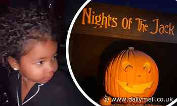 Khloe Kardashian gets into the Halloween spirit by taking daughter True to Nights of the Jack