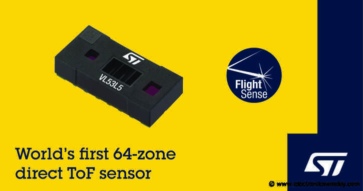ST claims first 64-zone ToF sensor