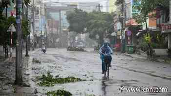 Typhoon Molave makes landfall in Vietnam in the aftermath of deadly floods