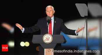 Six days to US election, Pence campaigns in coronavirus hotspot Wisconsin as cases surge - Times of India