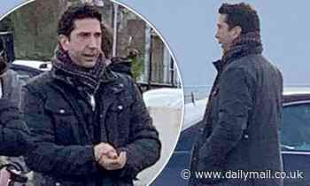 David Schwimmer is spotted filming an advert in Margate, Kent