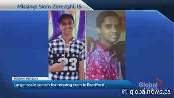 Large-scale search underway for missing Bradford, Ont. teen