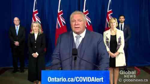 Coronavirus: Ontario Premier Ford announces $1-billion COVID-19 Resilience Stream program for infrastructure funding