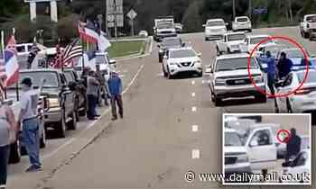 Cops pull gun on black motorist who was 'called the N-word' during standoff with Trump supporters