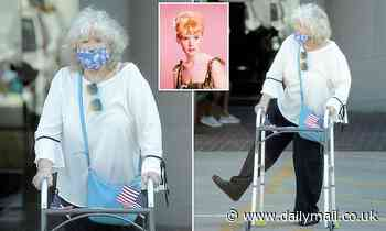 Connie 'Cricket' Stevens, 82, does a little dance in rare appearance