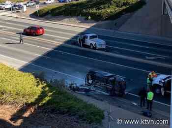 Man Injured After Rolling Car Off McCarran Overpass on I-80 in Reno