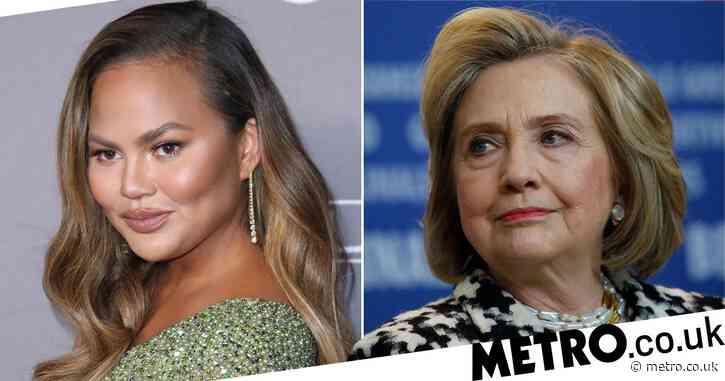 Chrissy Teigen fangirls after Hillary Clinton tweets her essay about miscarriage: 'I'm so honored'