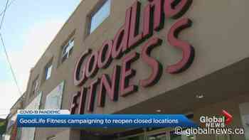 GoodLife Fitness asks members to urge Ontario government to reopen gyms