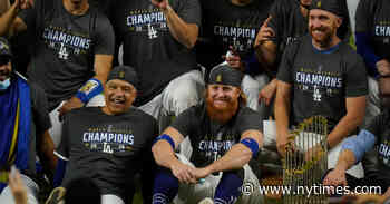 M.L.B. Says Justin Turner Refused to Stay Off Field After Dodgers' Win