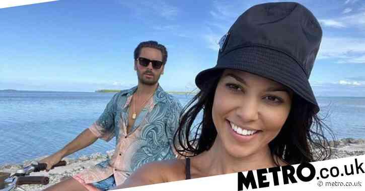 Kourtney Kardashian and Scott Disick are close exes as they escape for bike ride at Kim Kardashian's private island birthday