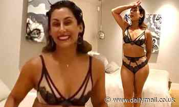 Saira Khan, 50, sizzles in lace lingerie as she admits to feeling 'invisible' after becoming a mum