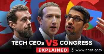 Facebook, Twitter and Google face Congress over free speech video     - CNET