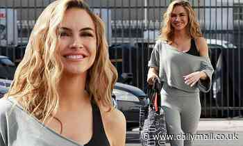 Chrishell Stause beams with joy as she arrives to Dancing With The Stars practice