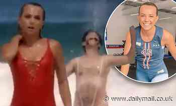 Sydney F45 trainer sizzles in racy swimsuit for new Borat sequel trailer