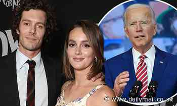 Adam Brody and wife Leighton Meester decide to call newborn son 'Joe Biden until after the election'