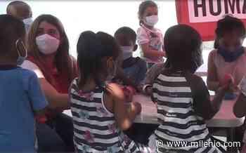 Sin importar el idioma y la pandemia, niños migrantes reciben clases en Reynosa - Milenio