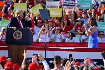 'Quick, quick, quick': Trump rushes McSally at rally as she fights to hold her Senate seat