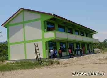 Junín: entregan nuevo colegio en comunidad indígena asháninka de Pangoa - Agencia Andina