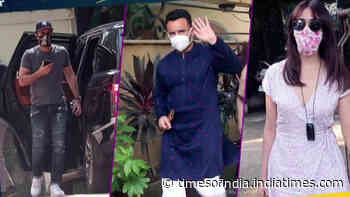 From Ranbir Kapoor to Saif Ali Khan and Gauahar Khan, B-town celebs spotted in and around Mumbai